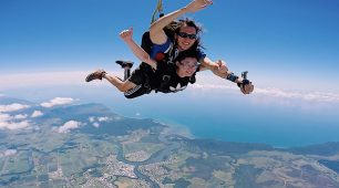 Great Barrier Reef and skydiving