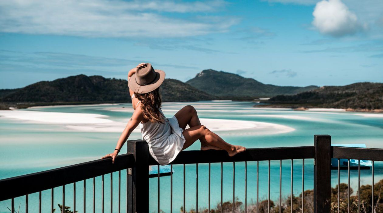 Take in the dazzling view of Hill Inlet