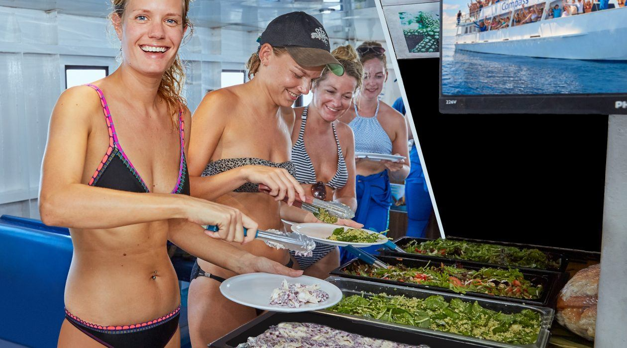 BBQ Buffet lunch on Compass Cruises